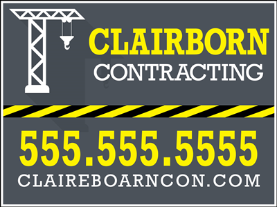 Contractors Yard Sign - Design 3